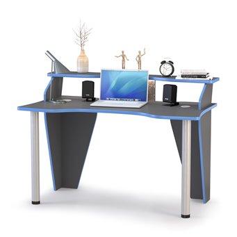 Стол компьютерный Индиго 12.61 цвет тёмно серый/граффити
