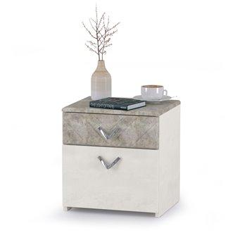 Тумба прикроватная Амели Моби 13.78 цвет шёлковый камень/бетон чикаго беж