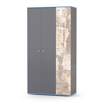 Шкаф Индиго 13.06 цвет тёмно серый/граффити