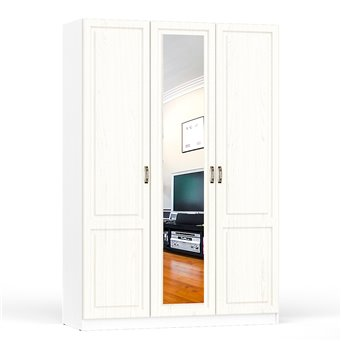 Шкаф комбинированный Ливерпуль 08.45 цвет ясень ваниль/белый