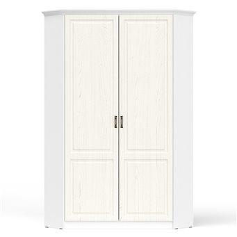 Шкаф с карнизом угловой для одежды Ливерпуль 13.124 цвет ясень ваниль/белый