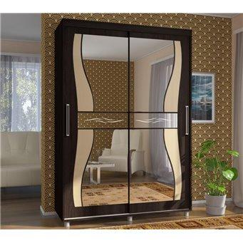 Шкаф-купе Прайм 150см с фигурными зеркалами