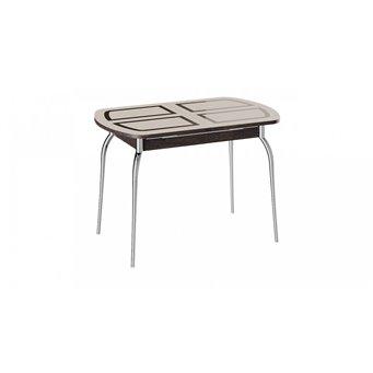 Стол обеденный раздвижной со стеклом Рио (венге)