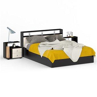 Кровать 1600 Камелия + две тумбы