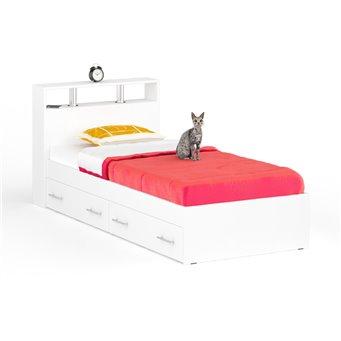 Кровать с ящиками Камелия 900 белый