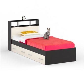 Кровать с ящиками Камелия 900 венге/дуб лоредо
