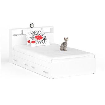 Кровать с ящиками Камелия 1200 белый