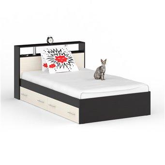 Кровать с ящиками Камелия 1200 венге/дуб лоредо