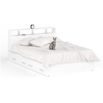 Кровать с ящиками Камелия 1400 белый