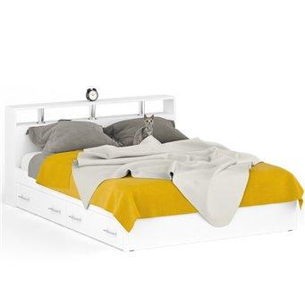 Кровать с ящиками Камелия 1600 белый