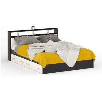 Кровать с ящиками Камелия 1600 венге/дуб лоредо