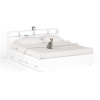 Кровать с ящиками Камелия 1800 белый
