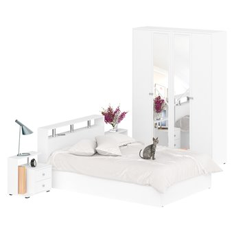 Спальня Камелия № 1 с кроватью 1400 белый