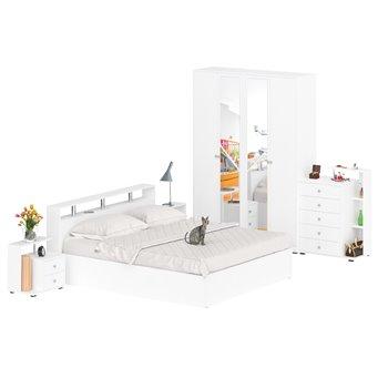 Гарнитур спальный Камелия № 4 белый