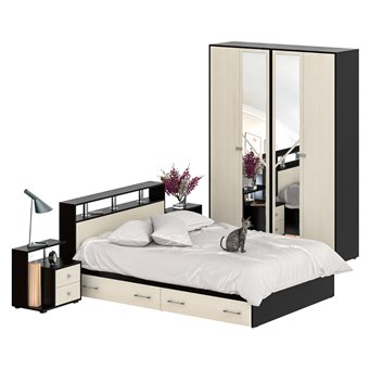 Мебель для спальни Камелия № 8 венге/дуб лоредо