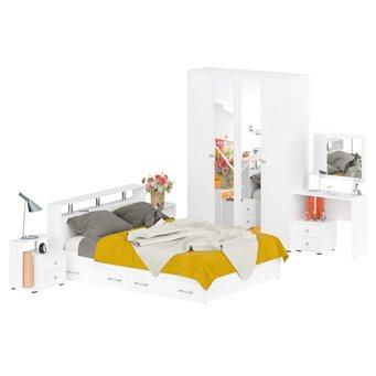 Гарнитур спальный Камелия № 9 белый