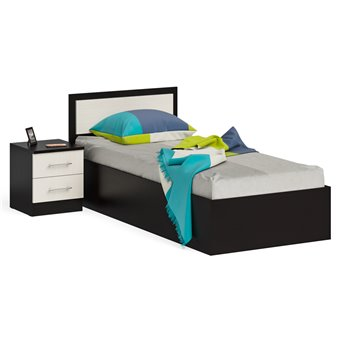 Кровать 900 с тумбой Фиеста венге/дуб лоредо