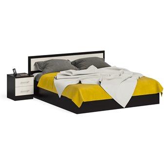 Кровать 1800 с тумбой Фиеста венге/дуб лоредо