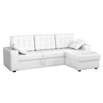Угловой диван Камелот эко-кожа белый